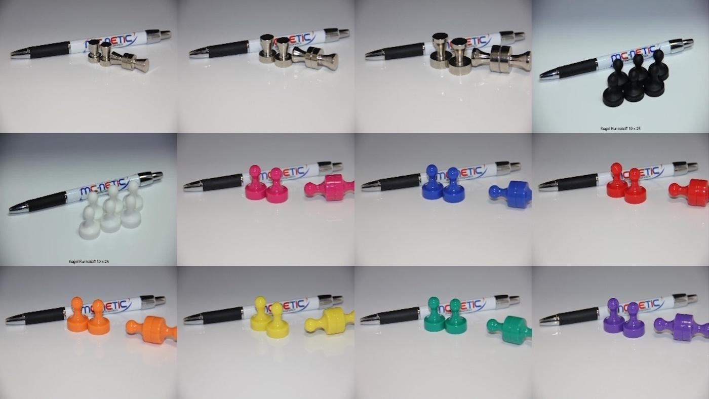 5 Stück Neodym Kegelmagnete Push Pins Pinnwand Büro Whiteboard Grün 19x25 mm