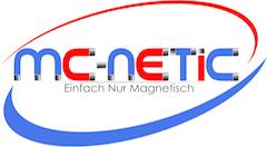 Mc-Netic Neodym und Edelstahl -Logo